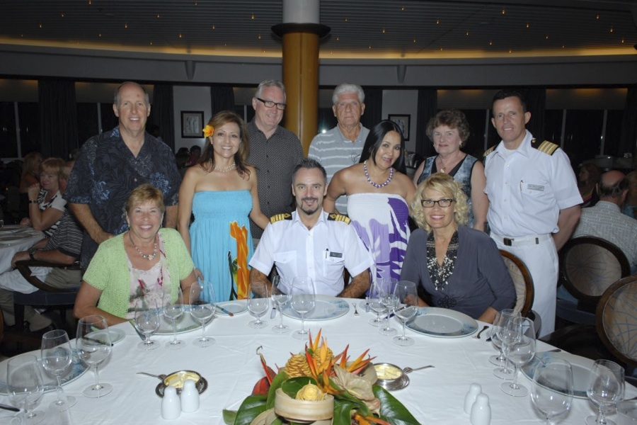 As ESCAPESEEKER VIP's we were invited to dine with the Captain.  Nothing like breaking bread together to bring out the most entertaining stories!
