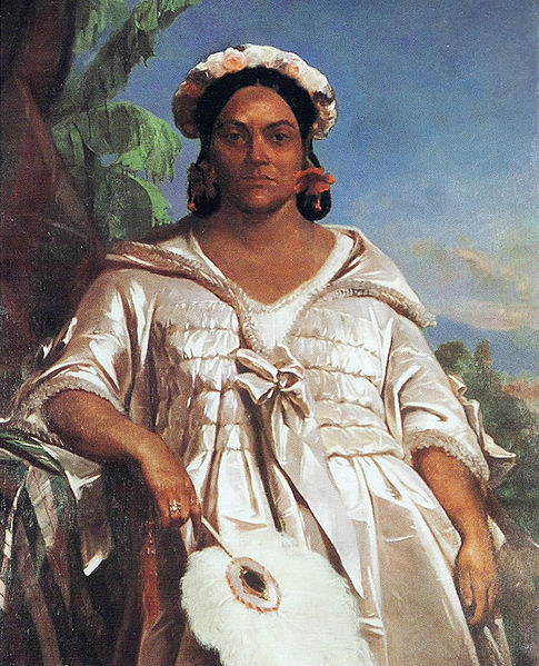Portrait of Queen Pomare IV of Tahiti by Charles Giraud, 1851, Musée de Tahiti et des Îles