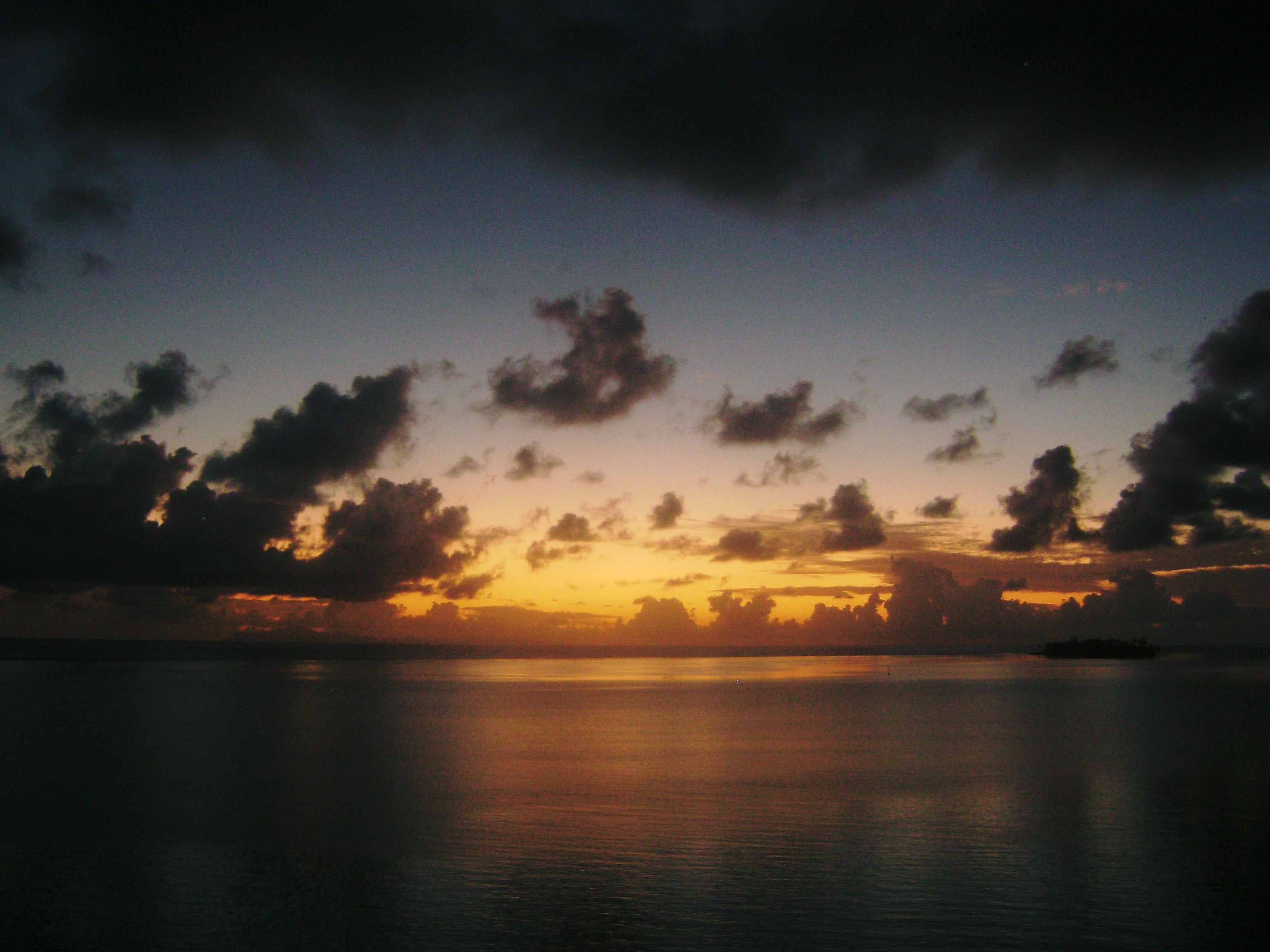 Papeete awakens…the sea is like glass…I could not wait for the first sign of dawn breaking…it's like poetry in motion.