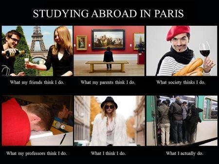 A humorous outlook on our French student life...