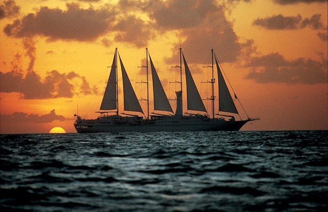 The Windstar Cruises' sleek schooner, The Wind Surf wove a Scandinavian itinerary for our splendid Summer Sail...guaranteeing one breathtaking sunset after another!