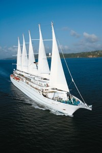 "On any given day, the 310-guest Windstar Cruises' flagship, Wind Surf, attracts admiring glances wherever she goes...as she glides gracefully into port with her tall sails dancing with the wind. As a passenger, I rarely missed an opportunity to go bridge side just to partake of her ""awesomeness"" as the young guests often described her in action!"