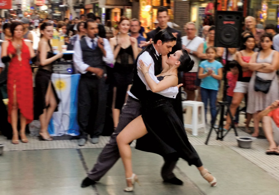 Tango-down-the-street-of-Buenos-Aires-Argentina