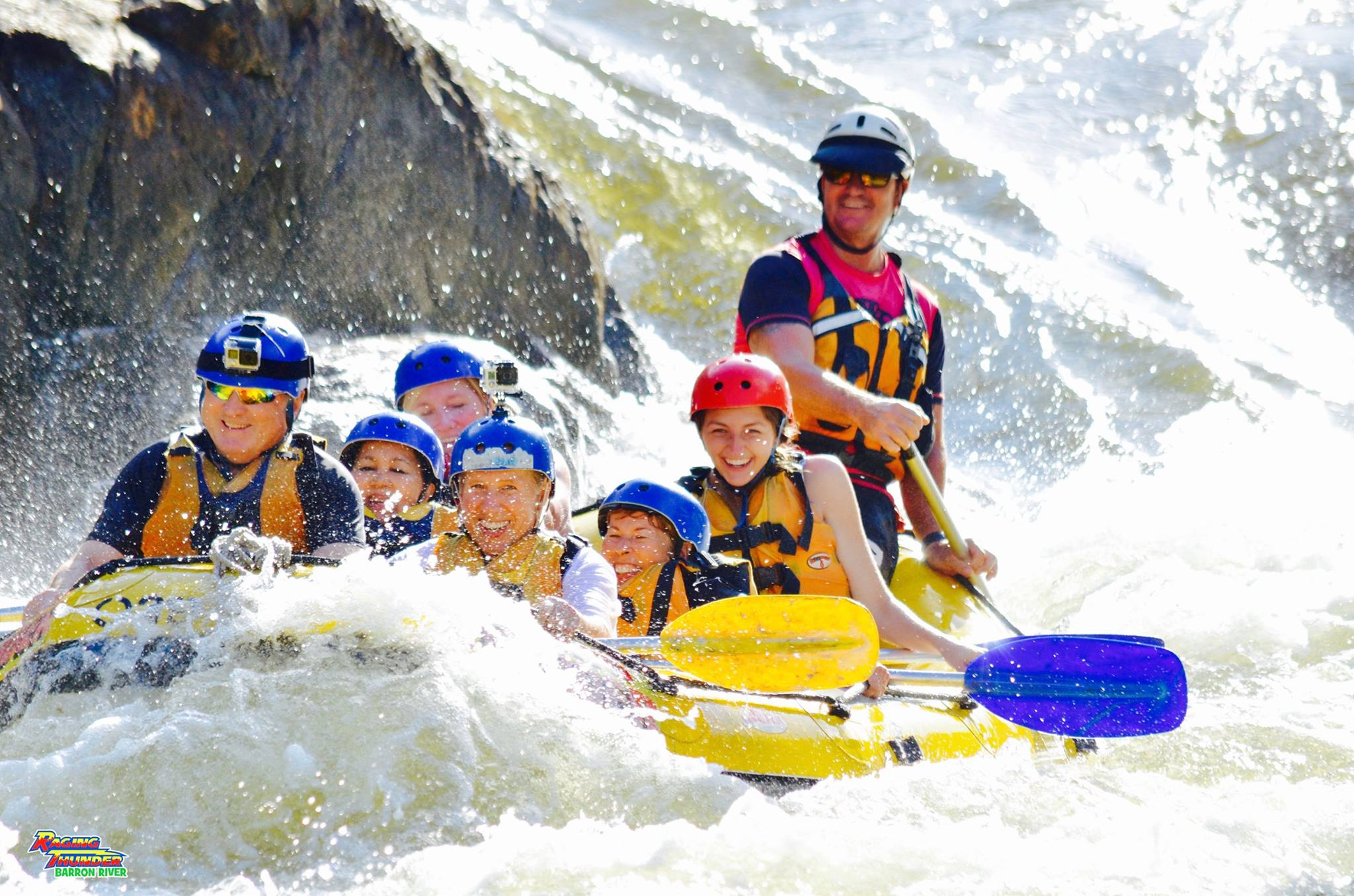 "They should rename the ""Raging Thunder Adventures"" ""Raging Laughter Adventures"" because that's exactly what our footage from our white water rafting trip on the Barron River sounded like! I would do it again in a heartbeat"