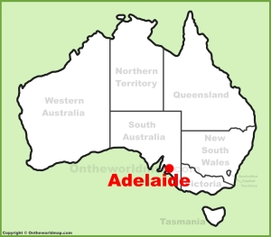 adelaide-location-on-the-australia-map